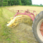 Farm Equipment Fridays: Raking hay