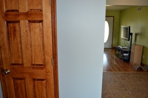 dining room wall after
