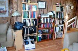 office shelves before