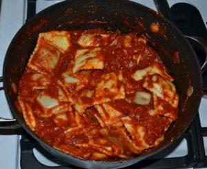 ravioli and sauce