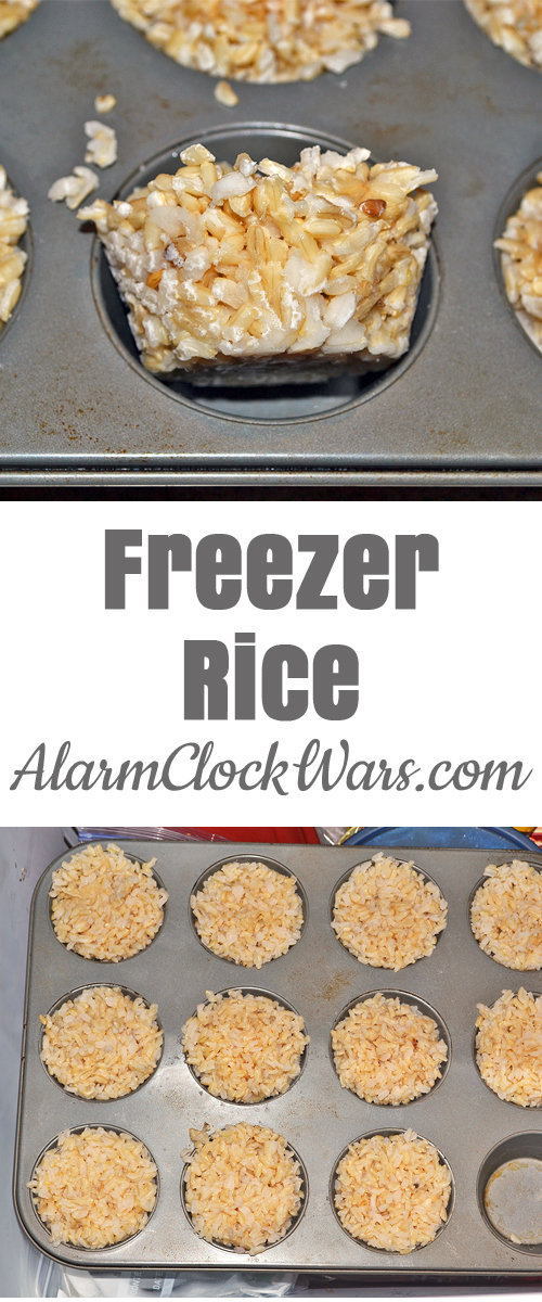 Brown rice takes time to cook, but is a great way to get whole grains in your diet. Make a big batch, and freeze the extras to cut down on meal prep the next time!