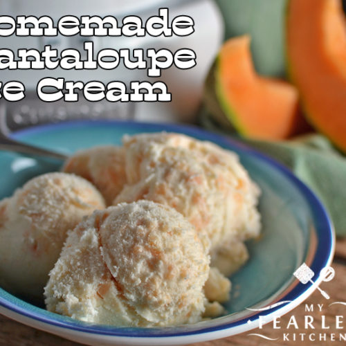 Homemade Cantaloupe Ice Cream My Fearless Kitchen Cantaloupe ice cream, ben and jerry's cantaloupe ice cream, 7 layer brownie ice cream cake, etc. homemade cantaloupe ice cream