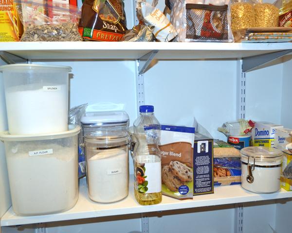 organized pantry baking
