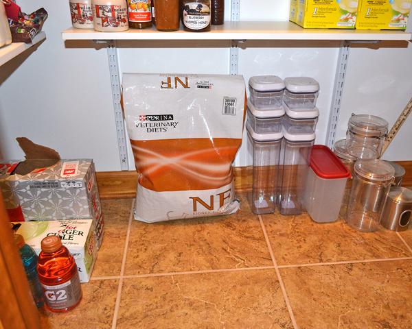 organized pantry floor