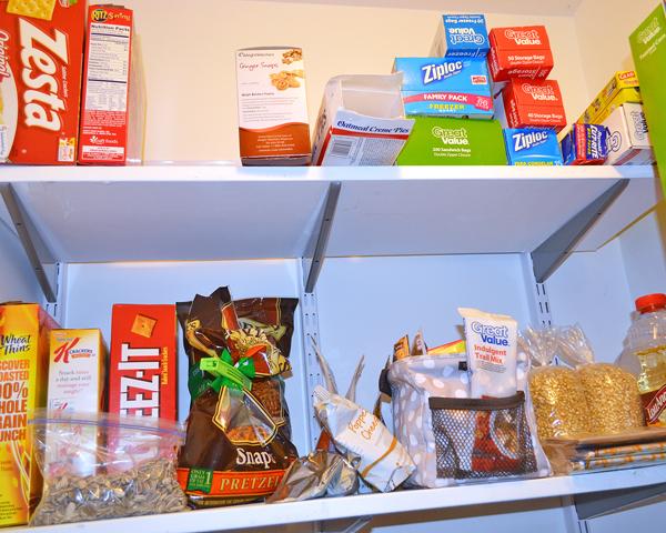 organized pantry snacks