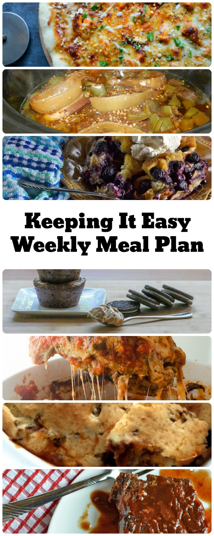 The Keeping it Easy Weekly Meal Plan offers a week's worth of meal ideas from top food bloggers.