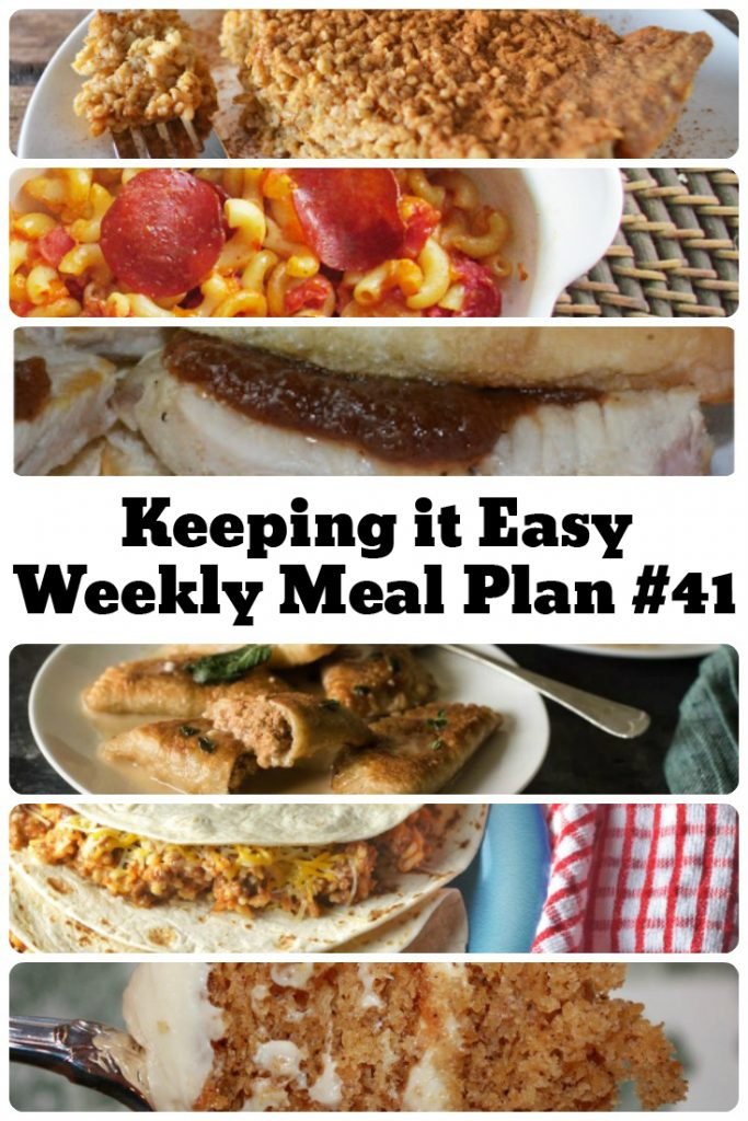Need some quick dinner ideas for tonight? Check out this week's menu plan!