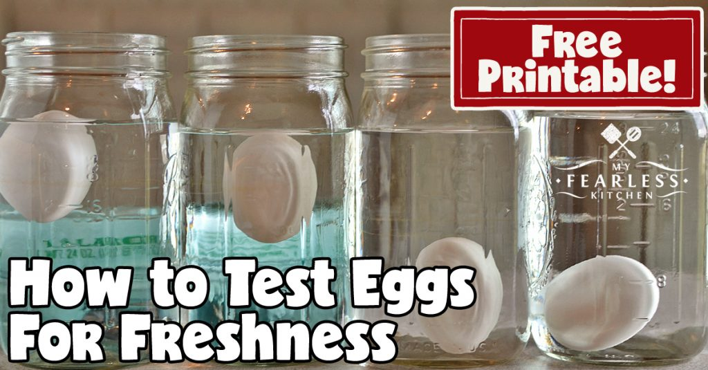 How can I tell if my eggs are fresh?